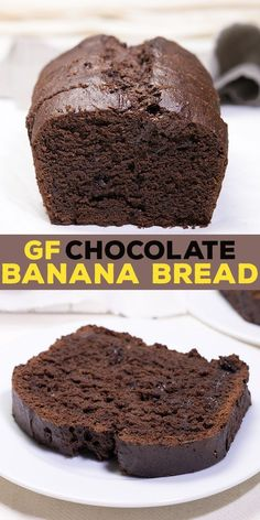 Gluten free chocolate banana bread, with plenty of melted chocolate and cocoa, plus sour cream and of course plenty of bananas. #glutenfree #bananabread #gf