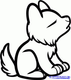 How to Draw a Howling Wolf For Kids Step by Step Animals For Kids For Kids FREE Online Drawing Tu Easy drawings for kids Cute wolf drawings Animal drawings