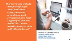 Looking for custom website design services (https://www.seoczar.com/custom-website-design/) in India Our custom website designing process are creative, unique and looking too attractive, also our company provide you money back guarantee if your keyword not rank on SERP between three to six months for more information visit our site https://www.seoczar.com/custom-website-design/