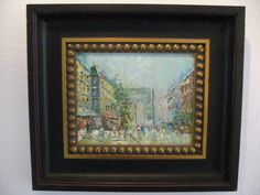 Paris City View Oil On Canvas Signed By Artist