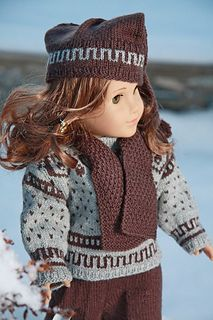 Knitting pattern 0053 ANDERS: Sweater, Pant, Sport socks and Hat Knitting Dolls Clothes, Crochet Doll Clothes, Knitted Dolls, Girl Doll Clothes, Doll Clothes Patterns, Doll Patterns, Clothing Patterns, Knitting Patterns, American Doll Clothes