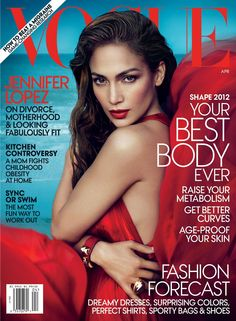 Jennifer Lopez - Vogue Magazine Cover [United States] (April 2012)