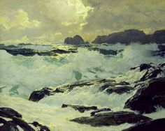 """""""Surf and Headlands"""" by Frederick Judd Waugh"""