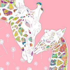 Giraffe nursery art baby girl nursery giraffe by OzscapeDesigns, $18.75