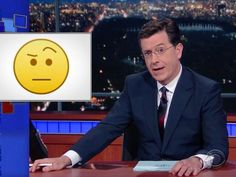Stephen Colbert and his eyebrows introduce the 'Colbert emoji'
