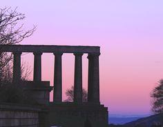 Scotland's National Monument on Calton Hill - looking over East Lothian Edinburgh Scotland, Athens, Marina Bay Sands, Sunrise, City, Building, Travel, Viajes, Buildings