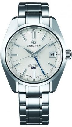 Grand Seiko Hi-Beat SBGJ201 GMT.This watch features a stainless steel case and bracelet, automatic caliber with GMT function.