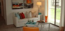 Find the perfect mix of apartment living with the feel of a single family home in one of our or 3 bedroom floor plans with exceptional amenities throughout. Research Triangle, 3 Bedroom Floor Plan, Sofa, Couch, Durham, Apartment Living, Apartments, Home And Family, Floor Plans