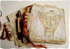 Lynne Hoppe: 4 x 4 muslin journal