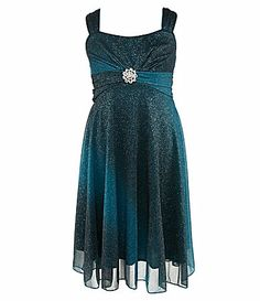 Ruby Rox 716 Sparkly Ombre Dress #Dillards