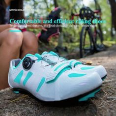 Santic Bicycle New Professional Sports Road Riding Auto-lock Cycling Shoes Men