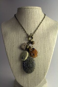Natural Stone Cluster Necklace