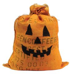 Burlap Coffee Bag Pumpkin - Click through for project instructions.