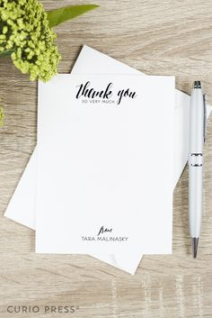 Thank you so very much flat notecards by CurioPress. Custom & personalized stationery and paper goods. Click through to see more.