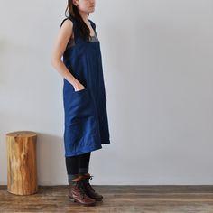 SMOCK APRON - blue