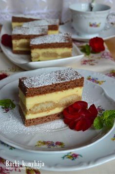 Barbi konyhája: Hartyáni krémes Hungarian Desserts, Hungarian Recipes, No Bake Desserts, Dessert Recipes, Sweet Cookies, Polish Recipes, Polish Food, Cakes And More, Cheesecake