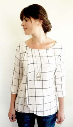 // another feather | Hackwith Design House White Dahlia Top