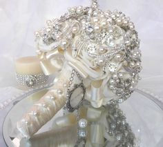 Vintage Ivory Brooch Bouquet
