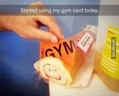Started using my gym card today