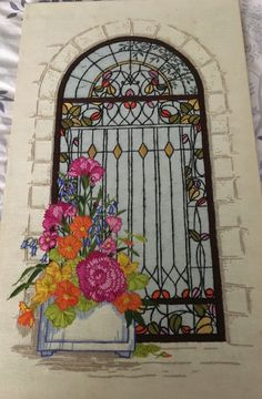 Crewel Stained Glass Embroidery - by Rozie