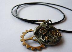 Steampunk Metallic Gear Necklace
