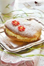 Z miłości do słodkości...: Biszkoptowe ciastka z kremem maślanym