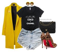 A fashion look from February 2016 featuring Christian Louboutin pumps, Chanel handbags and Chanel brooches. Browse and shop related looks. Estilo Fashion, Dope Fashion, Denim Fashion, Korean Fashion, Best Mens Fashion, Fashion Looks, Womens Fashion, Swag Fashion, Classy Fashion