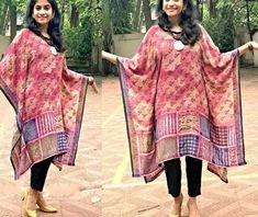 How to use old chiffon sarees in 8 fantastic ways Anarkali, Lehenga, Sarees, Reuse Old Clothes, Chiffon Saree, Being Used, Kaftan, Kimono Top, Skirts