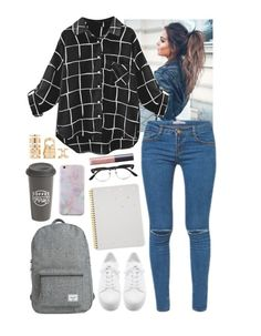 """""""Work"""" by iarsotelo ❤ liked on Polyvore featuring Kori, DKNY, Herschel Supply Co., The Created Co., Sugar Paper, Cutler and Gross, tarte and Forever 21"""