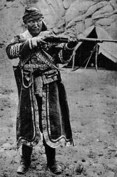 Ja Lama, an adventurer and warlord of unknown birth and background who fought successive campaigns against the rule of Qing China in western Mongolia between 1890 and 1922