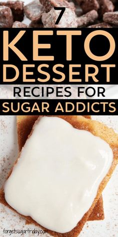 Do you LOVE sugar and struggle to stop eating it These mouthwatering keto dessert recipes will help satisfy your cravings without the sugar and the carbs I quit sugar ten. Keto Dessert Easy, Best Dessert Recipes, Gourmet Recipes, Low Carb Recipes, Cookie Recipes, Ketogenic Diet, Ketogenic Recipes, Lchf Diet, Cream Cheeses