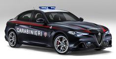 アルファロメオ・ジュリアの最強グレードがイタリア国家治安警察隊のパトカーに!