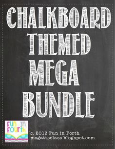All my chalkboard themed products in one file! $