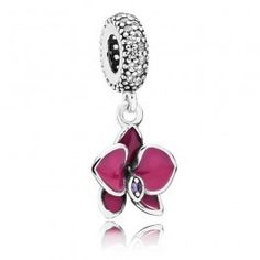 A beautiful new charm from the Pandora Summer 2015 Collection, inspired by tropical paradise and forged from sterling silver into this stunning purple flower. Dropping from a cubic zirconia encrusted carrier is an exquisite enamel inlayed orchid featuring a sparkly cubic zirconia centre. A wonderful gift for someone special, buy with confidence.