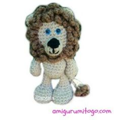 Amigurumi To Go!: Little Bigfoot Lion Free Crochet Lion Pattern, I also like the monkey, hippo, and I already printed out the turtle! Lion Crochet, Crochet Gratis, Crochet For Kids, Crochet Animals, Crochet Baby, Free Crochet, Amigurumi Free, Crochet Patterns Amigurumi, Crochet Dolls
