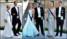 ReadyforRoyalty:  Wedding of Princess Madeleine and Chris O'Neill-June 8, 2013-Greek Royals:  Crown Princess and Prince Pavlos, Princess and Prince Nikolaos, Princess Theodora and Prince Phillipos