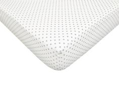 American Baby Company 100% Cotton Percale Fitted Crib Sheet,  White with Gray Dots by American Baby Company, http://www.amazon.com/dp/B00CKIQE32/ref=cm_sw_r_pi_dp_FTfusb1SVNFKJ