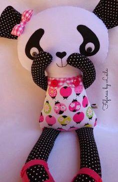 Panda ternurita-en tela