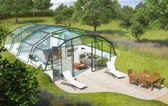 green design, eco design, sustainable design , The Photon Space, Glass House, double glazed facade, transparent home, pop up home