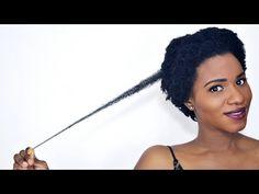 Tutorial : Natural Hair Regimen Shampooing 4C Hair - YouTube