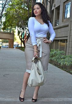 {Basic Beauty} REAL Curvy Girl inspiration from Tanesha Awasthi, her blog: Girl With Curves Big beautiful real women with curves accept your body plus size body conscientiousness fashion