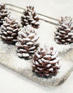 Edible Snowy Chocolate Pine Cones