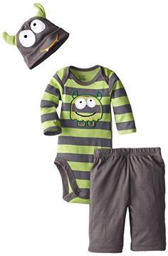 Gerber Baby-Boys Newborn 3 Piece Set Bodysuit Cap and Pant - Monster, http://www.amazon.com/dp/B00MN99ENK/ref=cm_sw_r_pi_awdm_zFdyub0MT1YN7