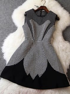Elegant black white dress