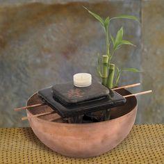 Zen Fountain - Indoor Tabletop and Desktop Fountains - Gaiam on Wanelo