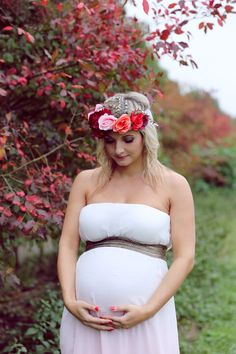 Fall pregnant photoshooting