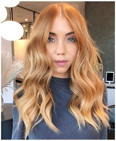 Reddish Blonde Hair, Cool Blonde Hair Colour, Hair Pale Skin, Ginger Hair Color, Hair Color Blue, Blonde Shades, Ginger Blonde Hair, Dark Blonde, Butter Blonde Hair