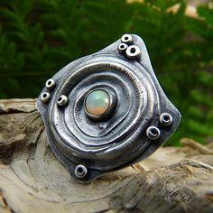 Opal Ring  Gypsy Ring Bohemian Ring Sterling Silver Boho