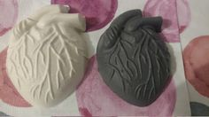 My Beating Heart Natural Handmade Soap with Coconut oil - Charcoal with Spearmint, Coconut with Lime, Melon with Lime, SLS & Palm Oil Free by MadeAfterDark on Etsy