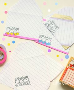 Printable Kawaii Letter Set